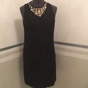 London Times black sleeveless sheath size 4l nice!